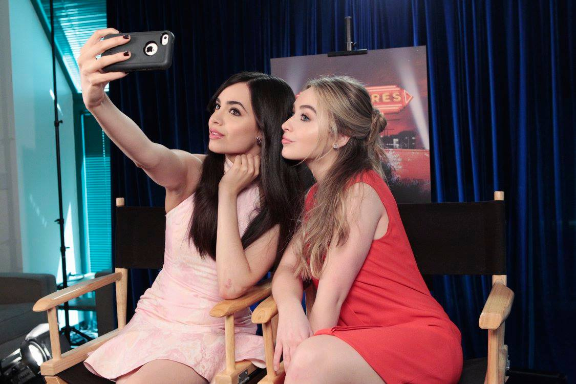 selfie with sofia and sabrina