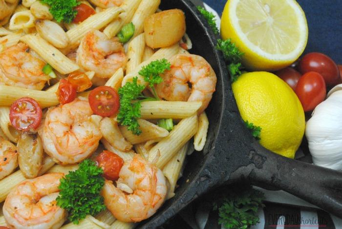 Seafood cajun pasta