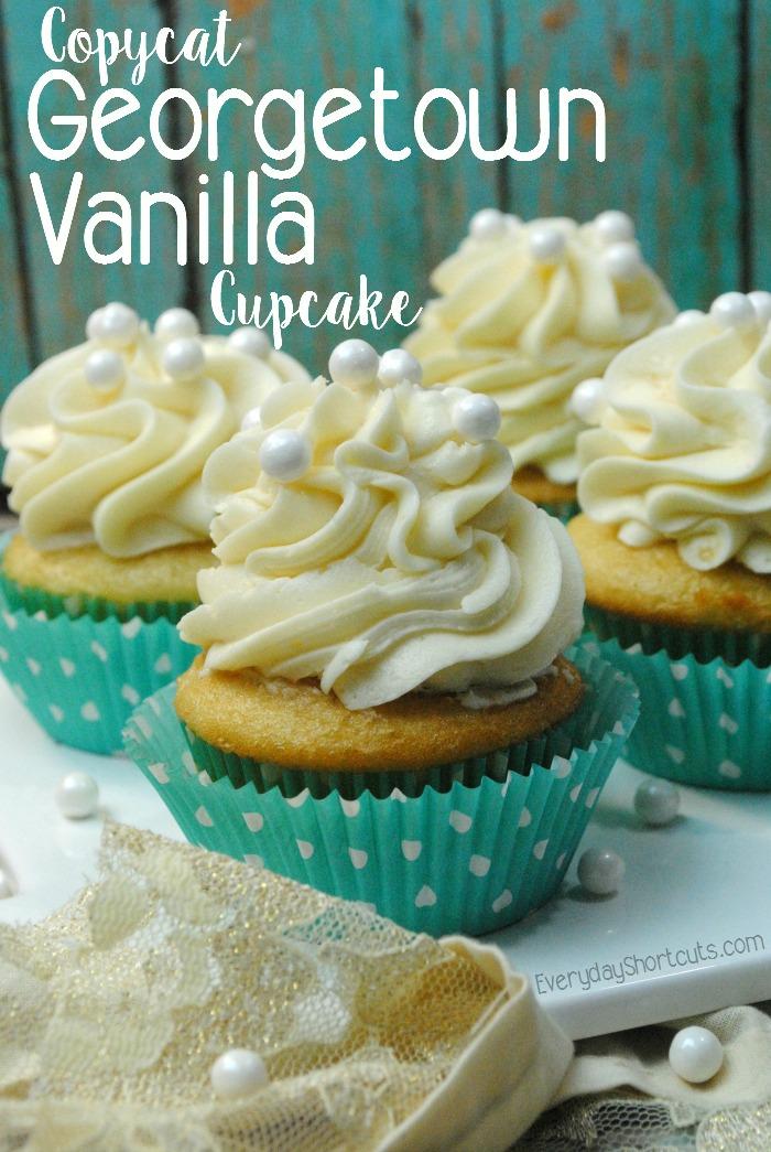 copycat Georgetown Vanilla Cupcake