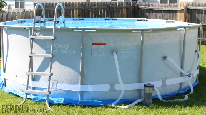 How to Set Up a Bestway Power Steel Frame Pool - Everyday Shortcuts