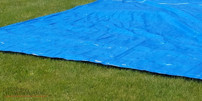 tarp from bestway pool