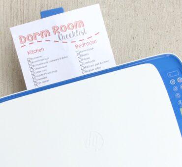 Dorm Room Checklist