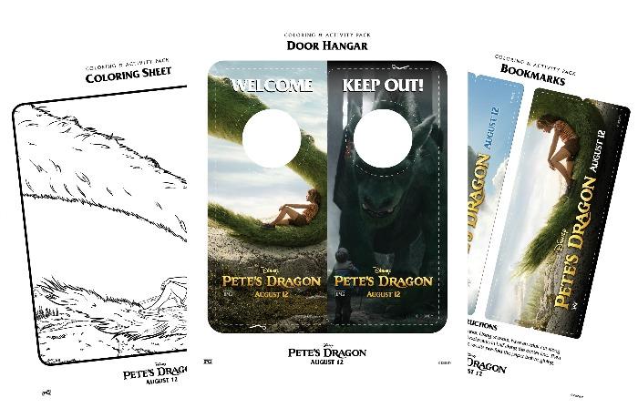 petes dragon activity sheets