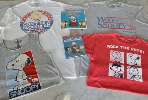 """Peanuts """"Rock the Vote"""" Campaign"""