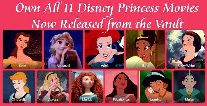 Take Home all 11 of the Disney Princess Movies - Everyday ...