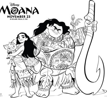 Moana Coloring & Activity Sheets