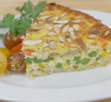 Turkey Vegetable Hash Brown Quiche