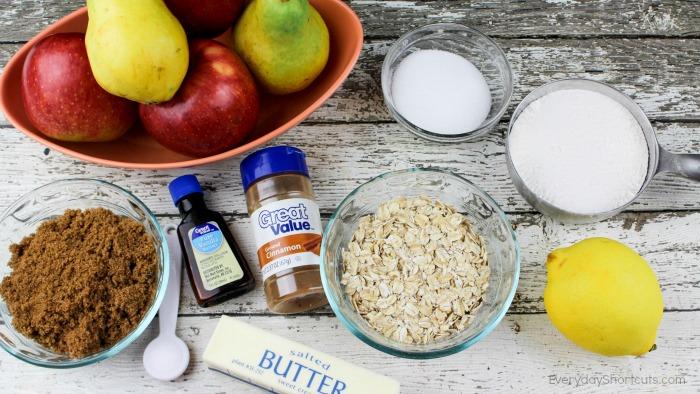 apple-crisp-pear-ingredients