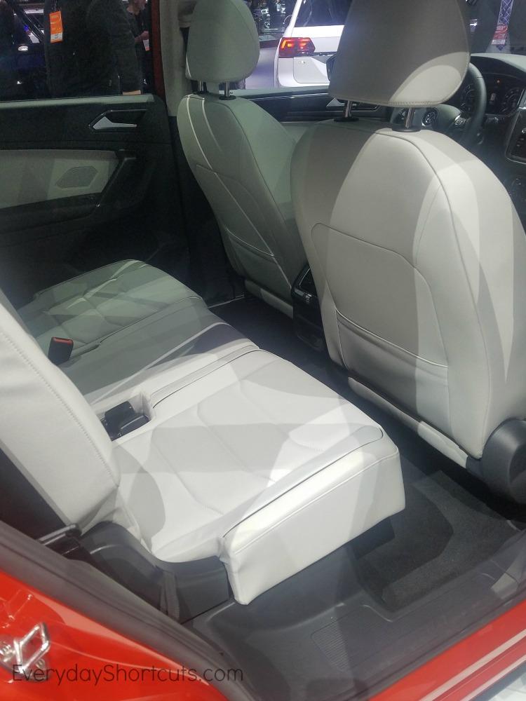 backseat of volkswagon tiguan