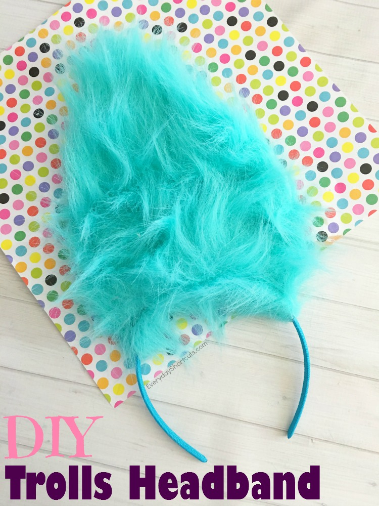 diy trolls headband