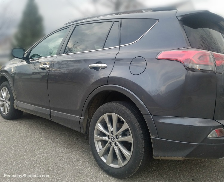 side view of 2017 Toyota RAV4