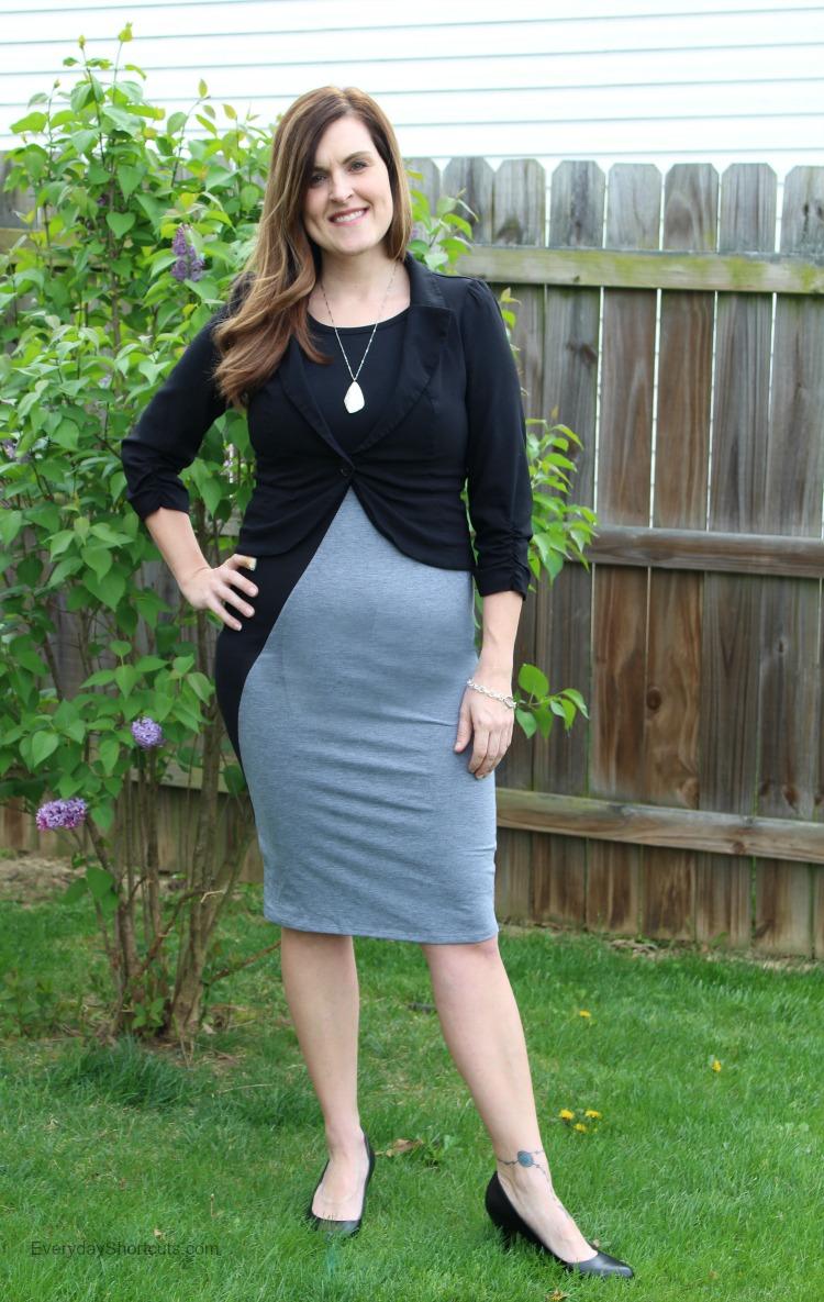 julia dress with blazer