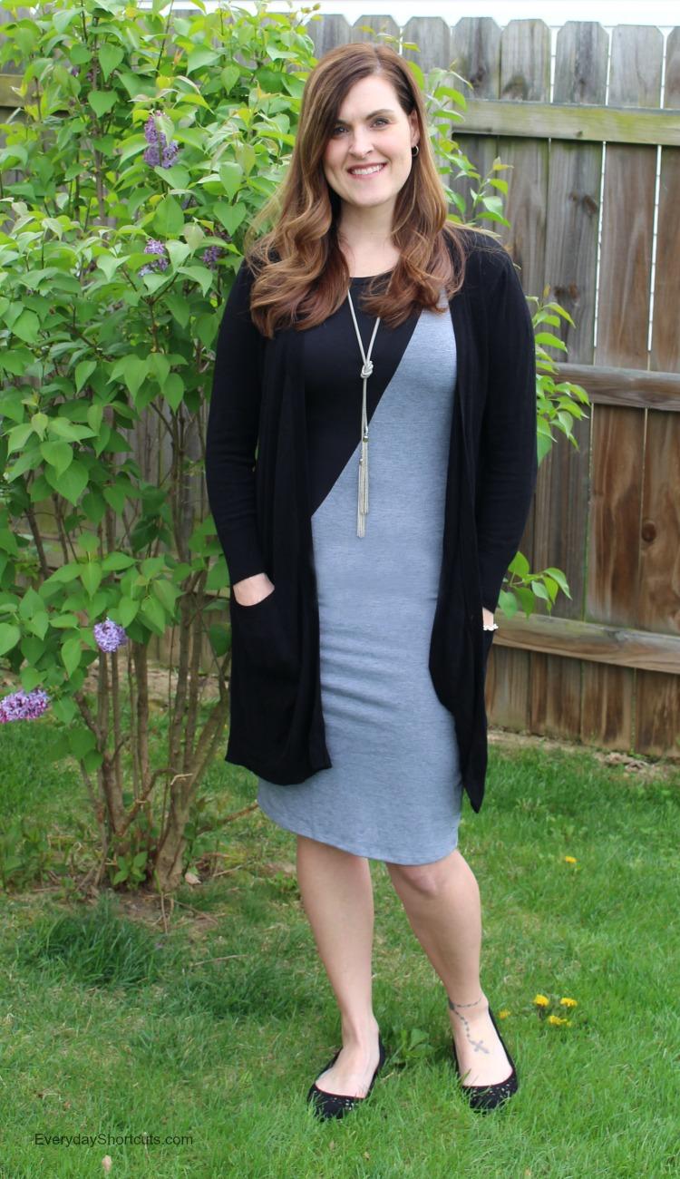 julia dress with cardigan