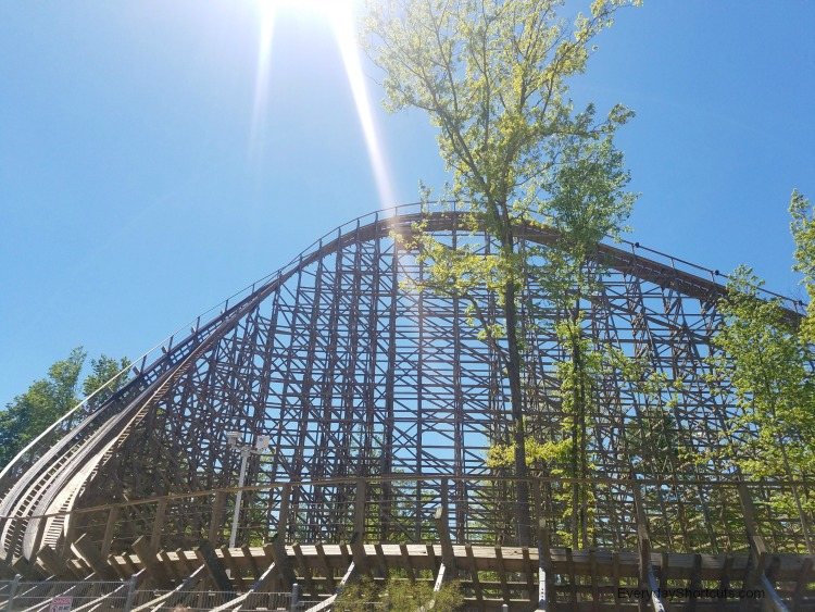 mystic timbers wooden coaster