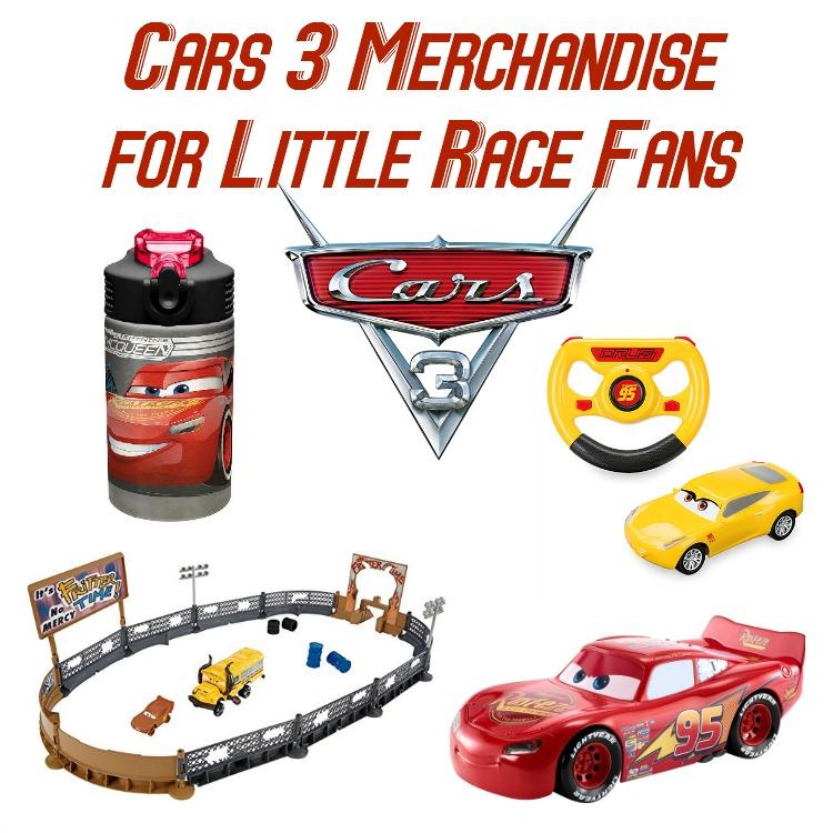 cars 3 merchandise for little race fans