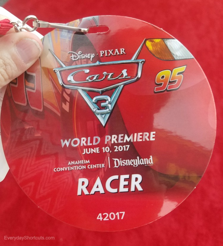 cars 3 red carpet badge