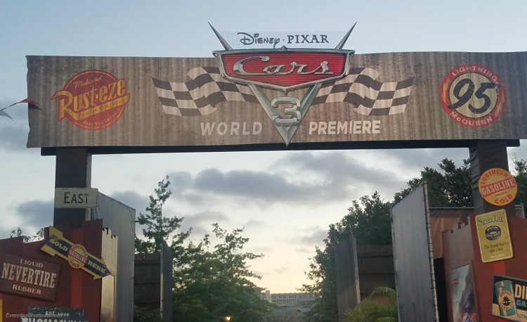 world premiere at radiator springs