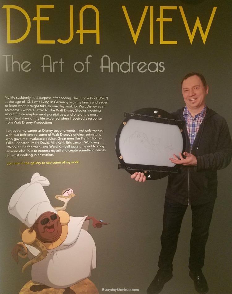 "Tour-of-""Deja-View-The-Art-of-Andreas-Deja""-Exhibit-At-Walt-Disney-Family-Museum"