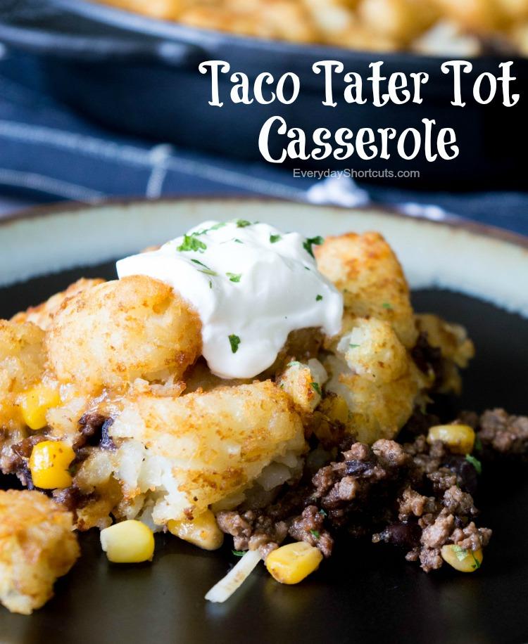 Taco Tater Tot Casserole