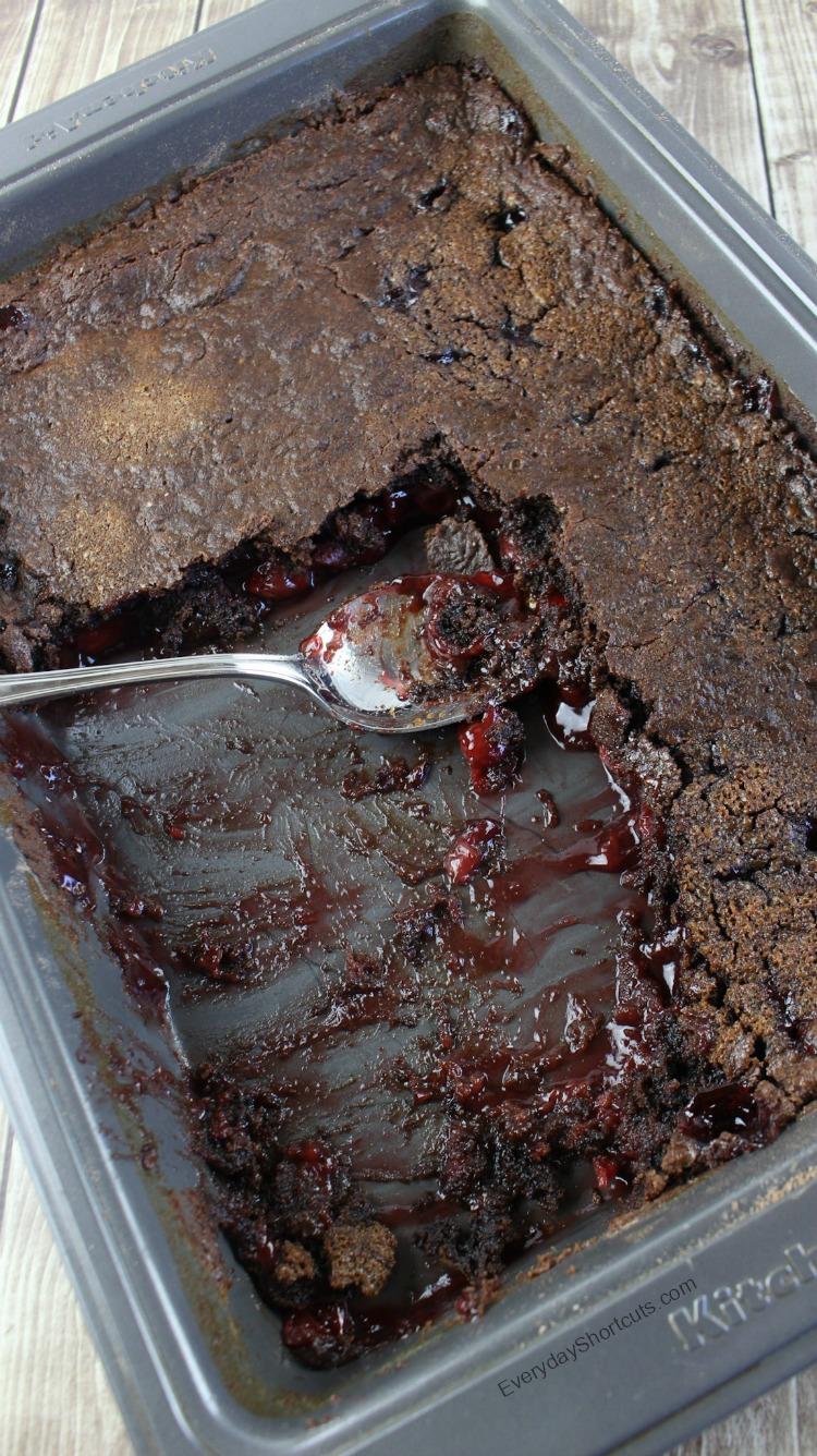 Chocolate Cherry Pie Dump Cake