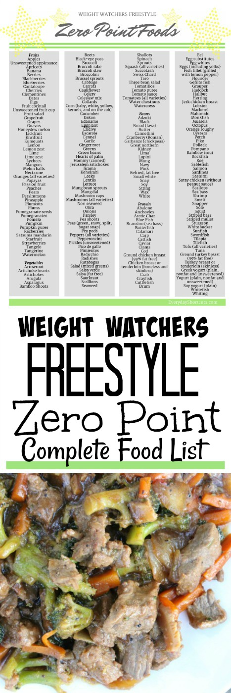 weight-watchers-freestyle-zero-point-complete-food-list