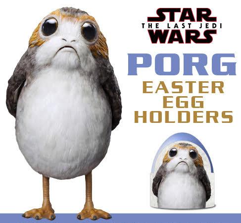 Porg Printable Easter Egg Holders
