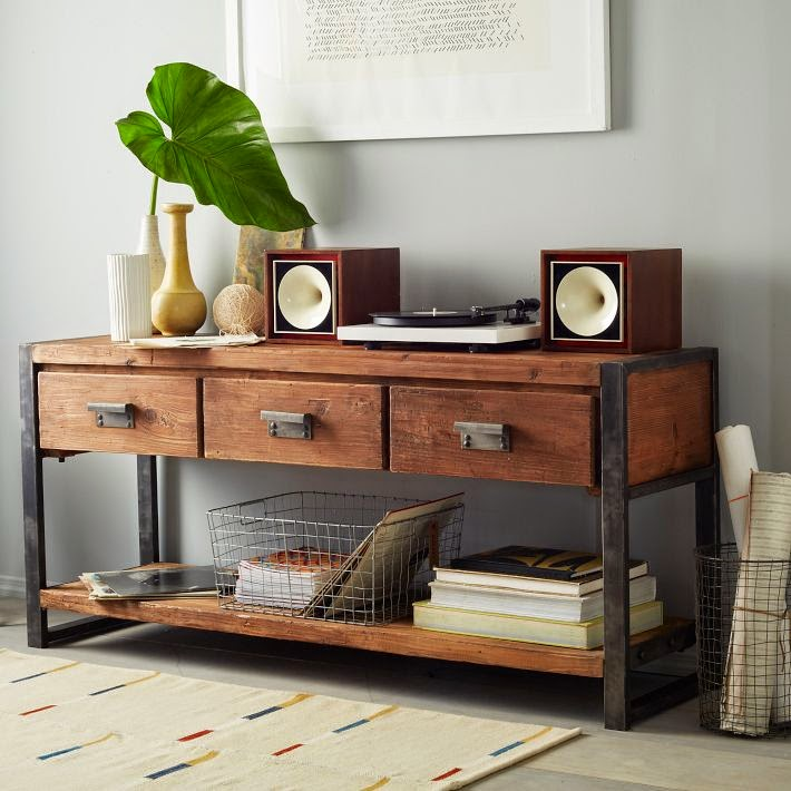 West Elm Bin Pull Console Table Everyday Shortcuts