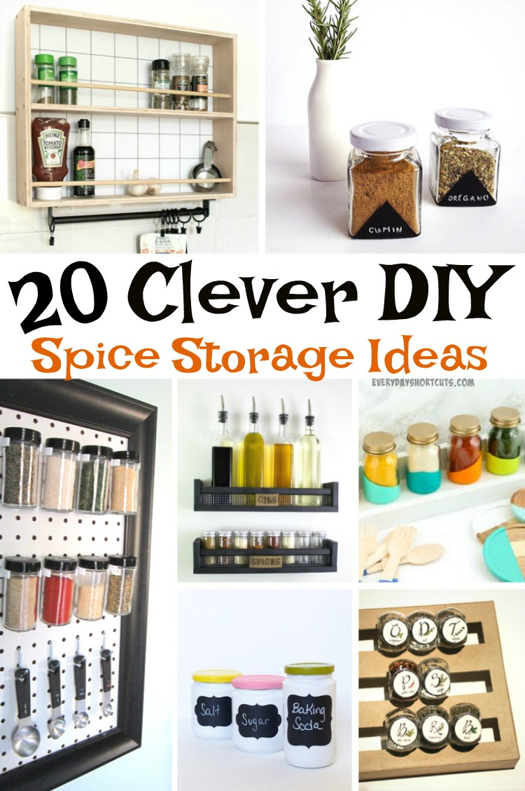 20 Clever DIY Spice Storage Ideas Everyday Shortcuts