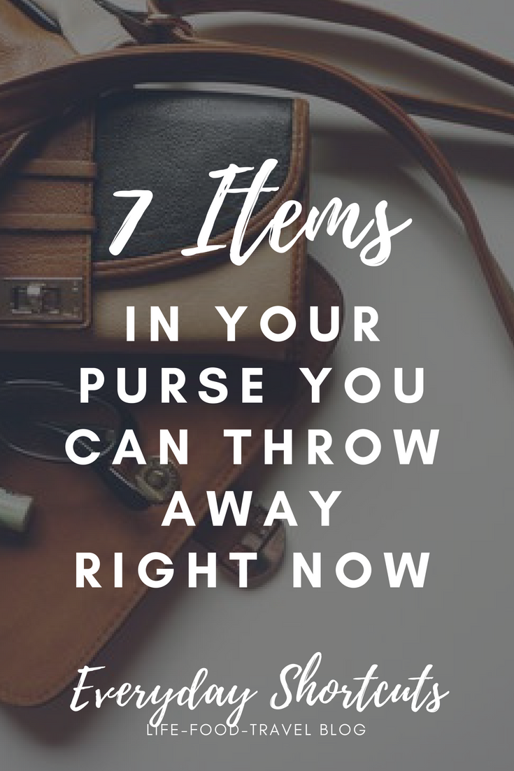 7 Items in Your Purse You Can Throw Away Right Now