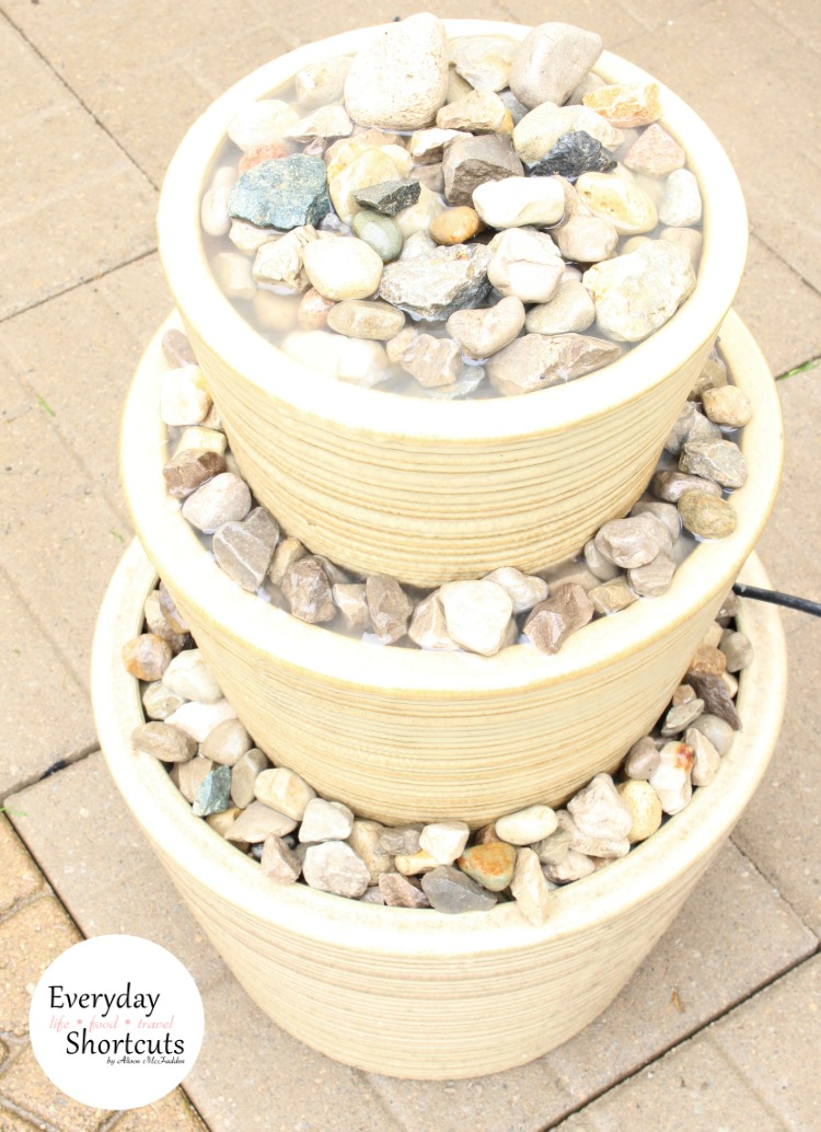 Diy Three Tiered Outdoor Water Fountain