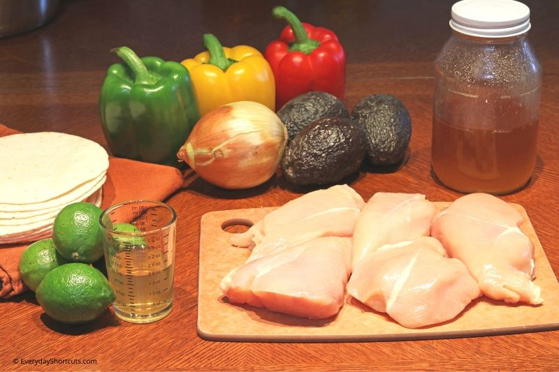ingredients-for-tequila-lime-fajitas