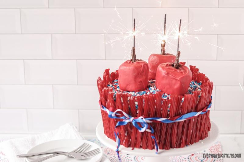 sparkler-cake