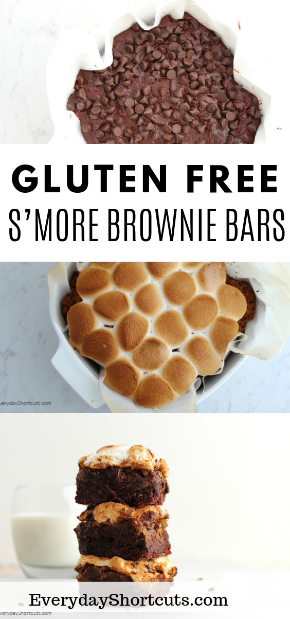 how to make Gluten Free S'more Brownie Bars