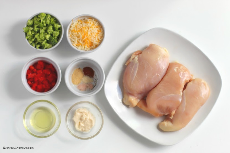 Ingredients-for-Broccoli-Stuffed-Chicken