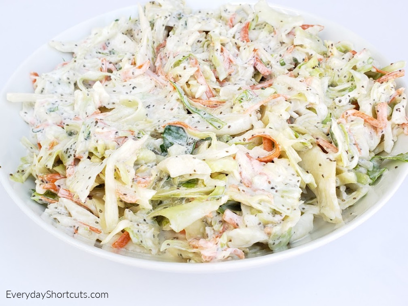 how to make keto creamy coleslaw