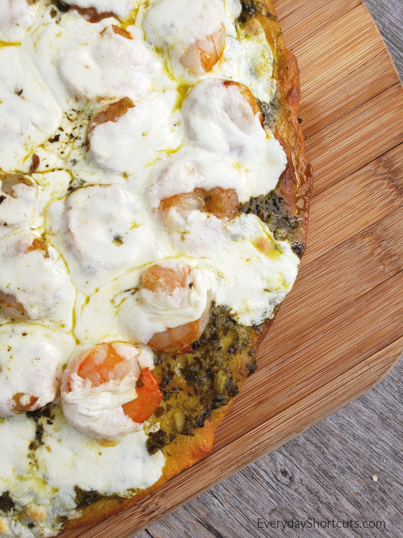shrimp-pesto-pizza