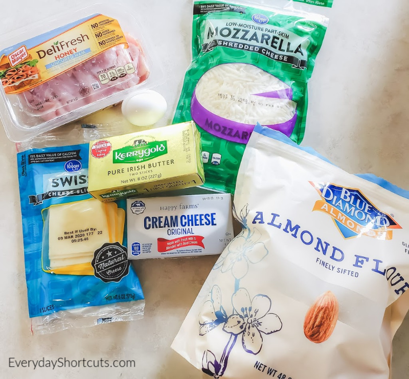 ingredients-for-keto-ham-and-cheese-pockets