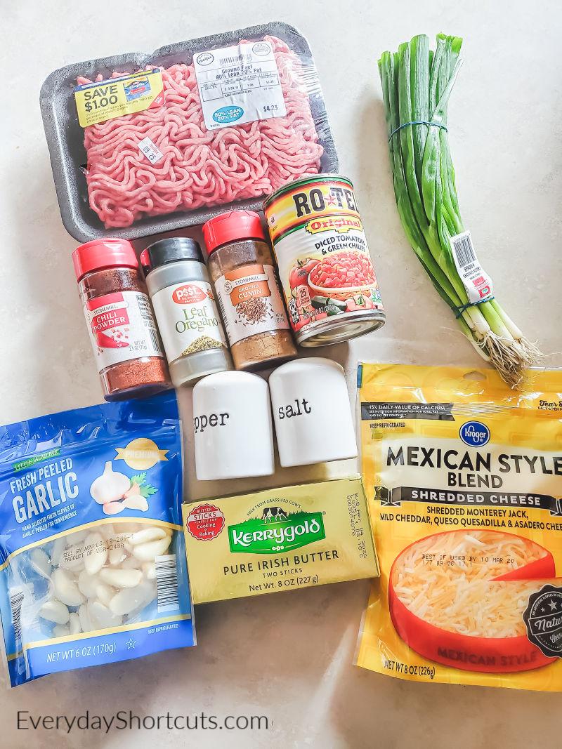 keto-taco-bake-ingredients