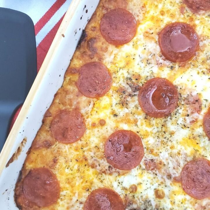 Low Carb Three Cheese Pizza Casserole