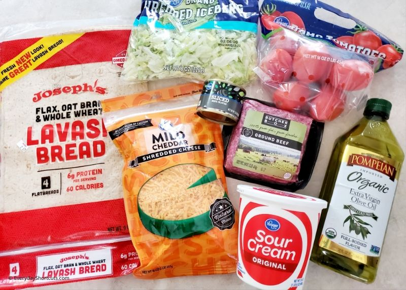 ingredients-for-keto-taco-ring