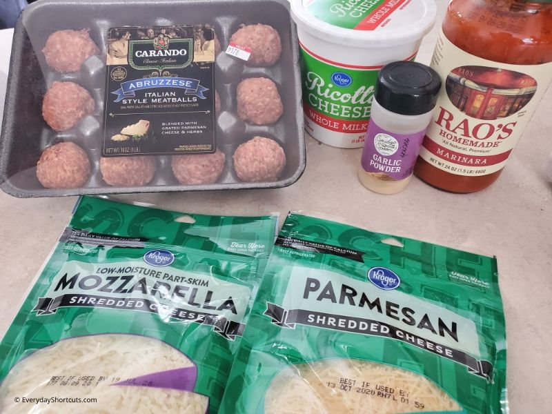 ingredients-for-meatball-casserole