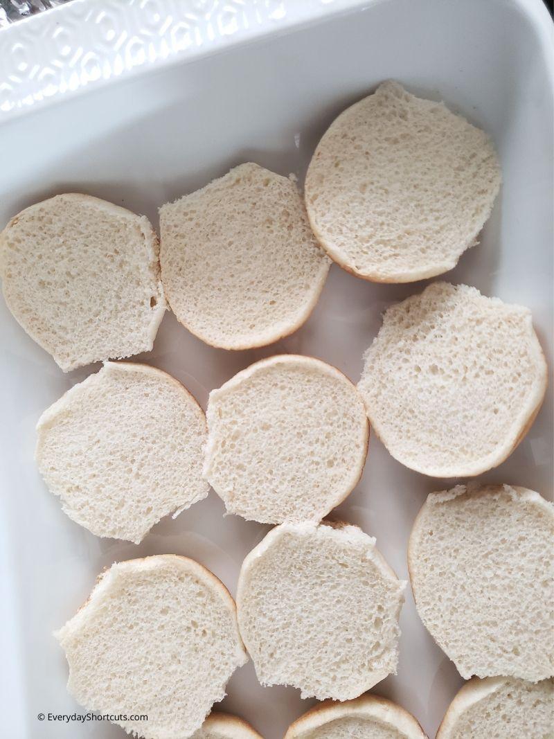 slider-buns-in-a-casserole-dish