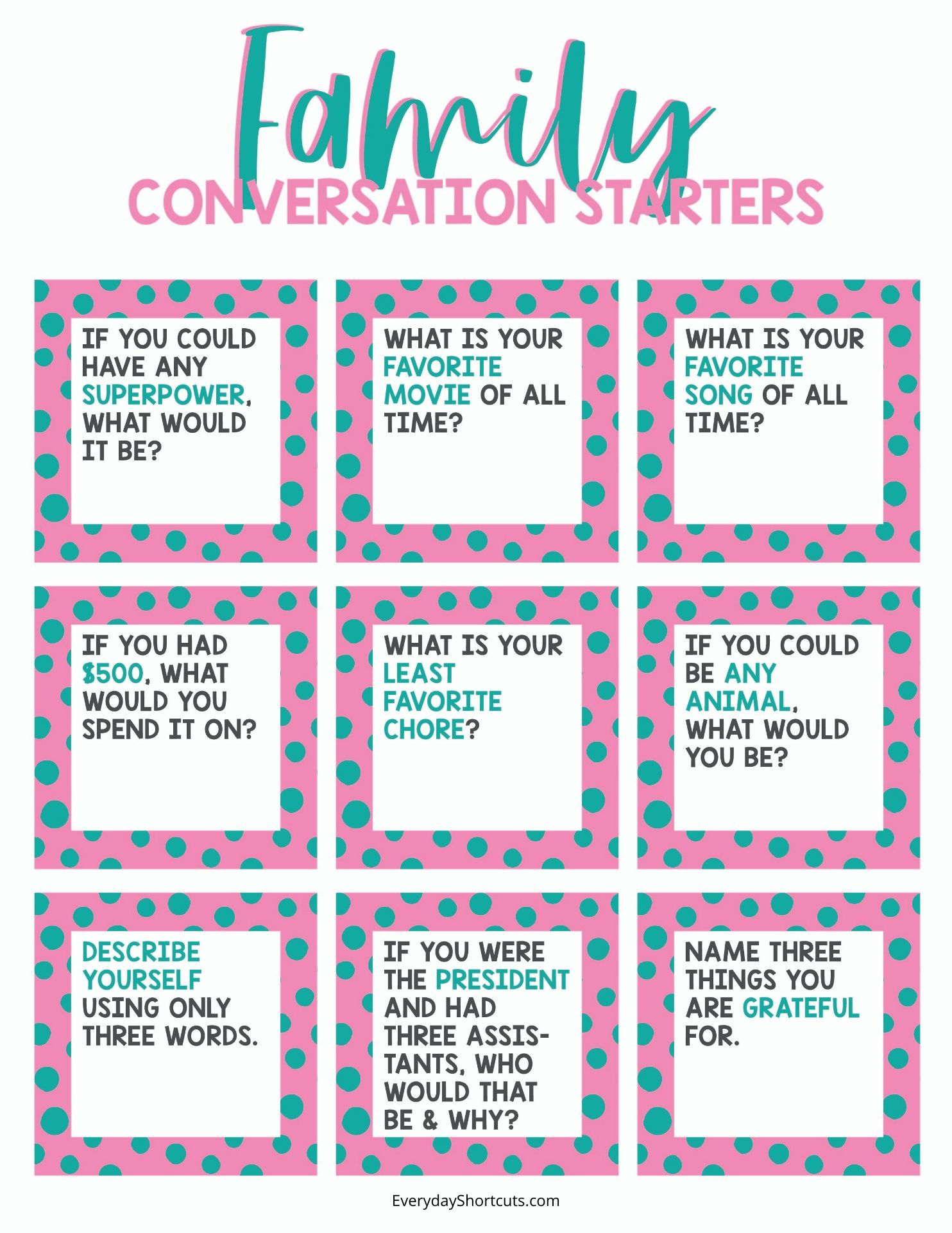 Family Conversation Starters