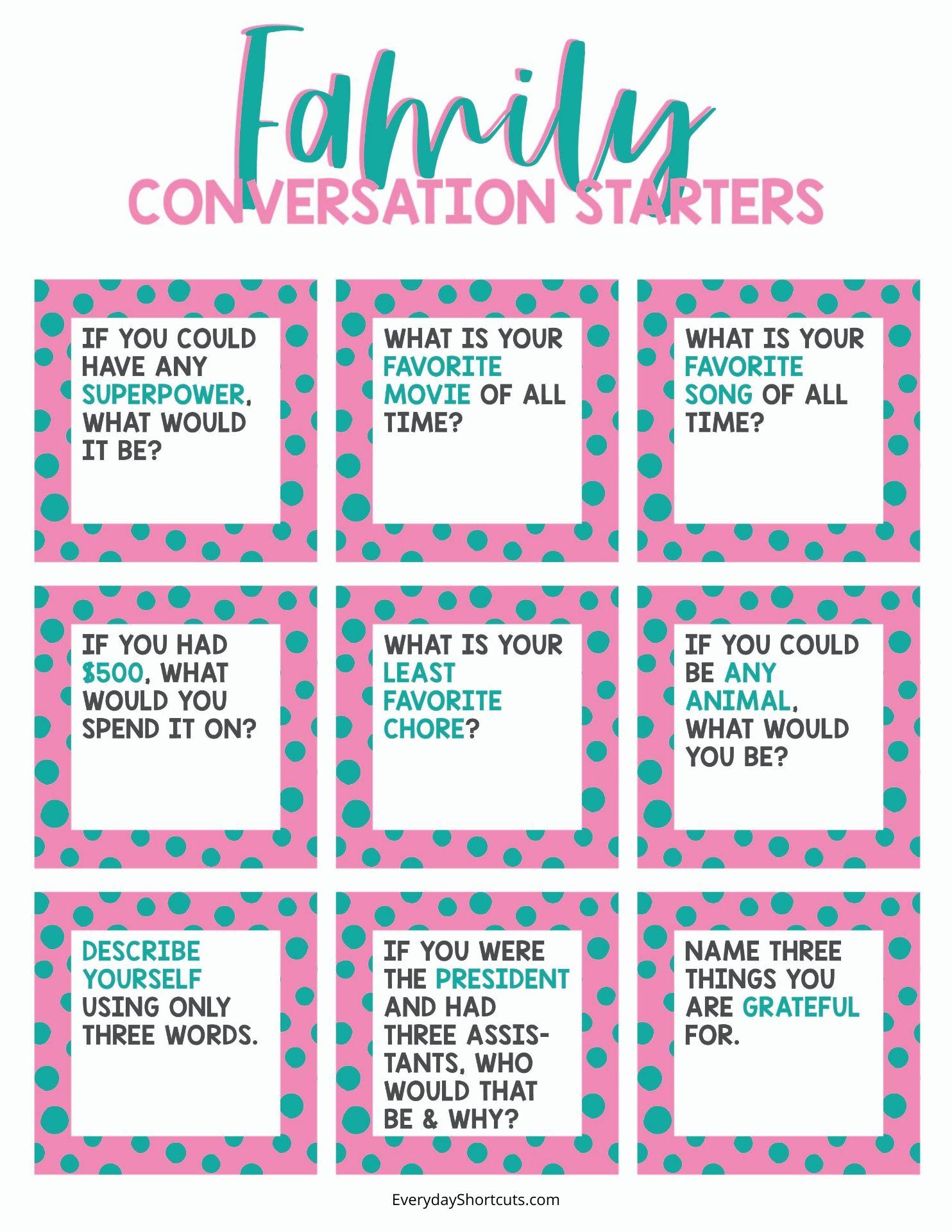 family-conversation-starter