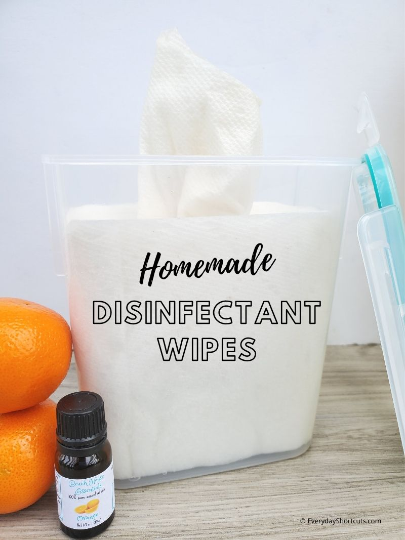 Homemade Disinfectant Wipes - Everyday