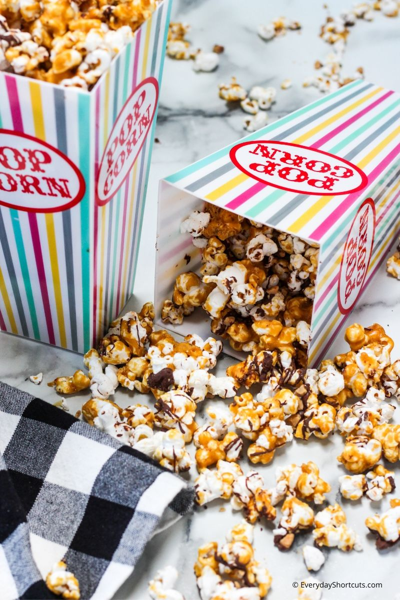 Chocolate Toffee Popcorn