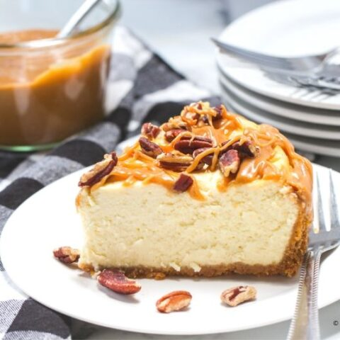 Instant Pot Salted Caramel Pecan Cheesecake