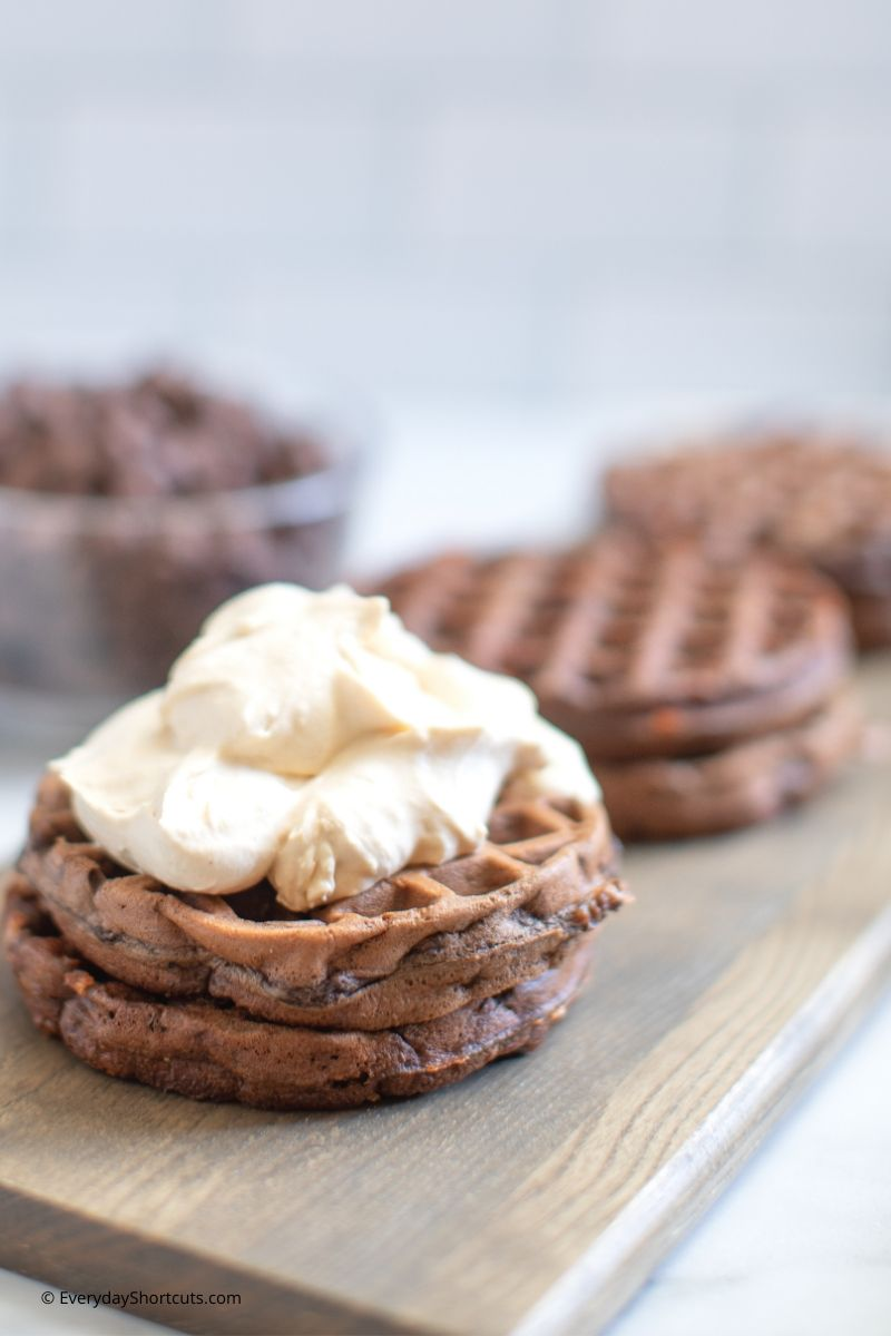chocolate-chip-chaffle-with-whipped-peanut-butter
