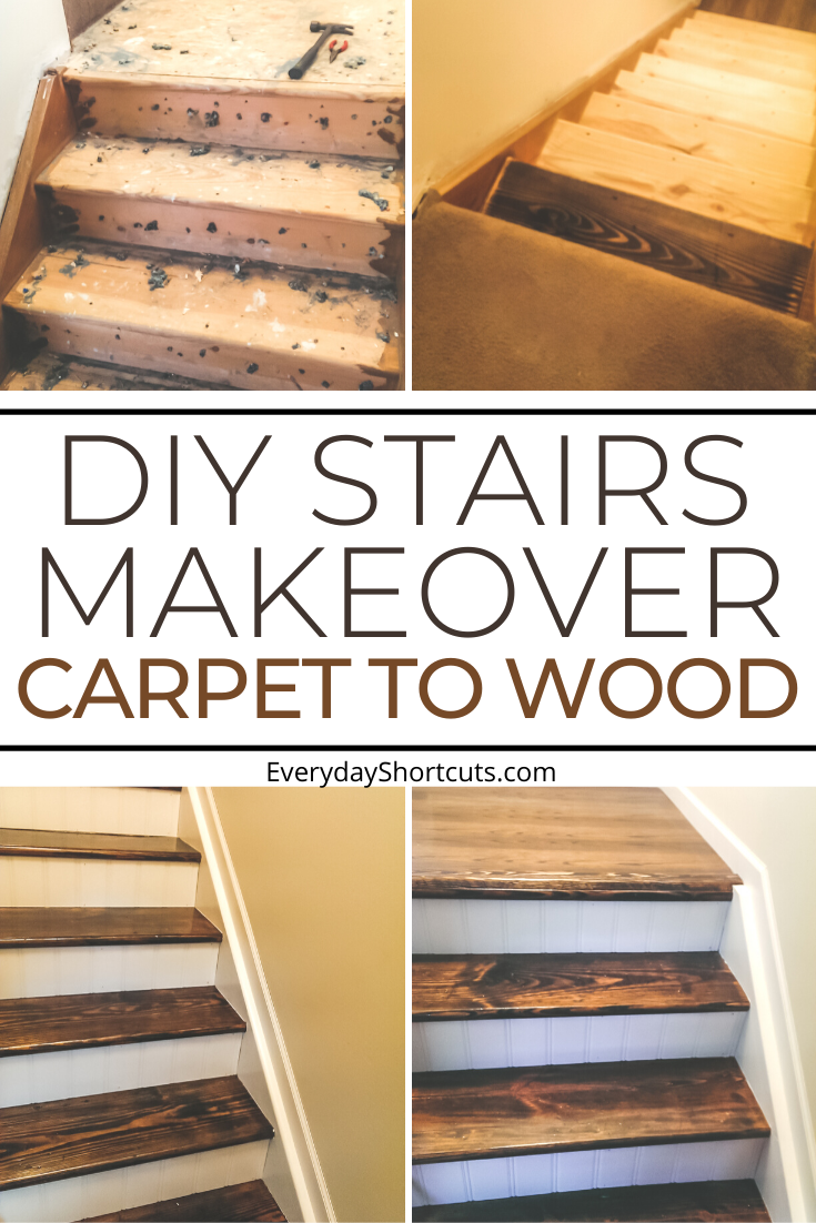 DIY Stairs Makeover: From Carpet to Wood