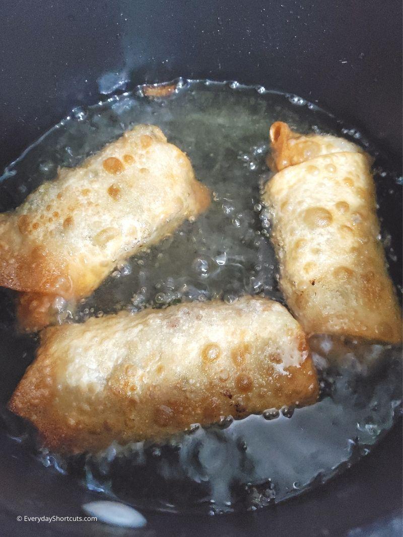 frying-egg-rolls